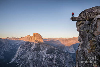 Overhang Photograph - Yosemite Sunset by JR Photography