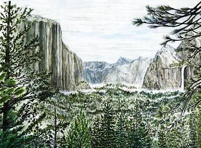 Yosemite ... The Tunnel Art Print by G H Hisayasu