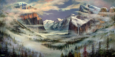 El Capitan Painting - Yosemite Tunnel View by Frederick Carrow