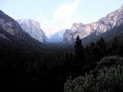 Digital Art - Yosemite Twilight 2 by Eric Forster
