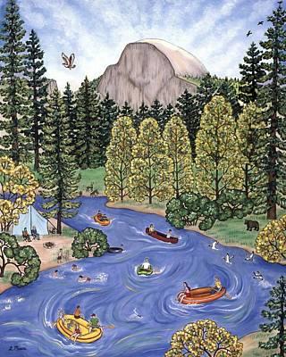 Ducks Painting - Yosemite Two by Linda Mears