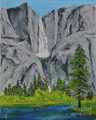 Painting - Yosemite Upper Falls by Jack Hedges