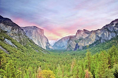 Photograph - Yosemite Valley At Sunset by Marius Sipa