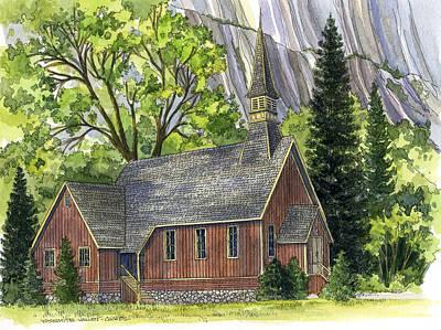Yosemite Valley Chapel Print by Mark Jennings