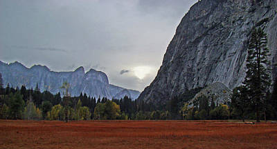 Photograph - Yosemite Valley Fall Sunset 2012 by Walter Fahmy