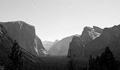 Photograph - Yosemite Valley In Gray Scale by Eric Tressler