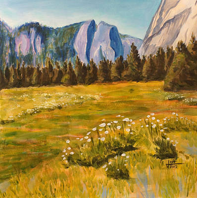 Yosemite Painting - Yosemite Valley by Jeff Chase