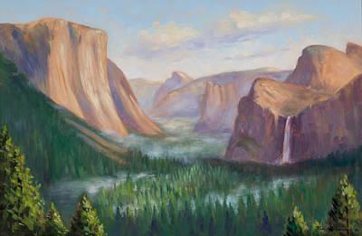 Yosemite Valley Original by Karin  Leonard