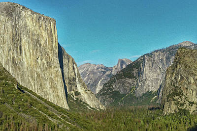 Photograph - Yosemite Valley Photo Painting 7r2_dsc2400_10072017 by Greg Kluempers