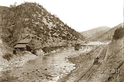 Photograph - Yosemite Valley Railroad At The Mine E. A. Cohen Photo Sept. 7 1907 by California Views Mr Pat Hathaway Archives