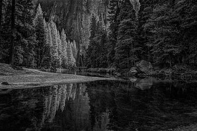 Photograph - Yosemite Valley Reflactions Bw by Rick Strobaugh