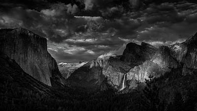 Photograph - Yosemite Valley View by Constance Reid