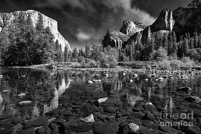 Photograph - Yosemite Valley View In Monochrome by Mimi Ditchie