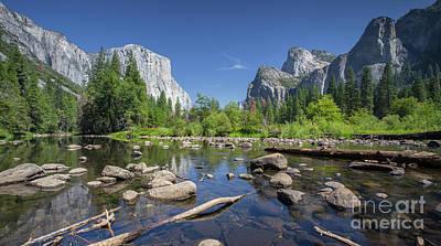 Yosemite Valley View Art Print by JR Photography