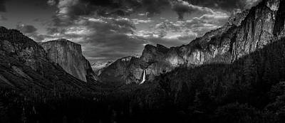 Photograph - Yosemite Valley View Panorama by Constance Reid