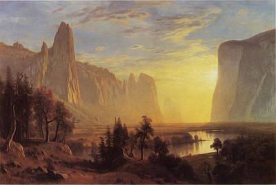 Photograph - Yosemite Valley Yellowstone Park by Albert Bierstadt
