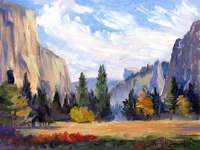 Yosemite Painting - Yosemite View Autumn by Karin Leonard