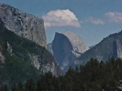 Yosemite Painting - Yosemite View Of El Capitan And Half Dome by Teresa Mucha