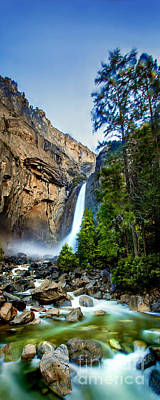 Vintage Ford - Yosemite Waterfall by Az Jackson