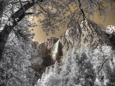 Infared Photograph - Yosemite Waterfall by Jane Linders