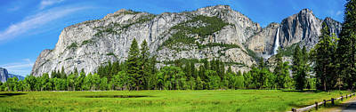 Yosemite West Valley Meadow Panorama #2 Art Print