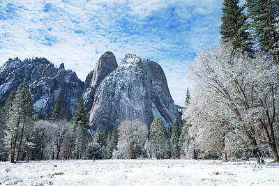 Photograph - Yosemite Winter Fantasy by Benedict Heekwan Yang