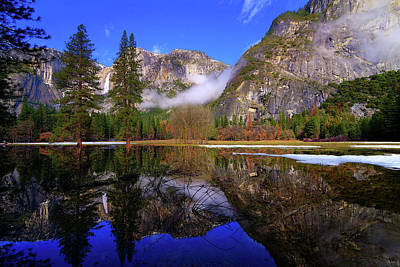 Photograph - Yosemite Winter Reflections by Greg Norrell