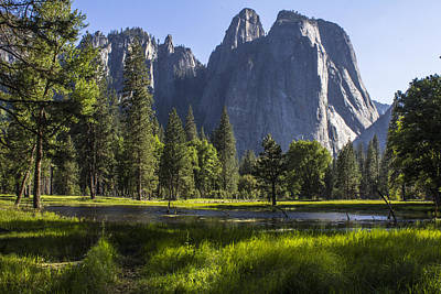 Photograph - Yosemite With Light Beams by John McGraw
