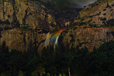 Photograph - Yosemite Moonbow 3 by Raymond Salani III