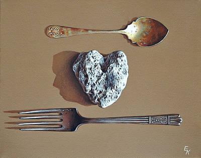 Painting - You And Me by Elena Kolotusha