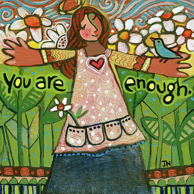 Florals Royalty-Free and Rights-Managed Images - You Are Enough by Jen Norton