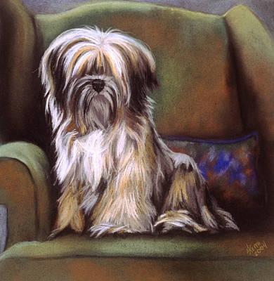 You Are In My Spot Again Art Print by Barbara Keith