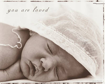 Print featuring the photograph You Are Loved by Anne Geddes