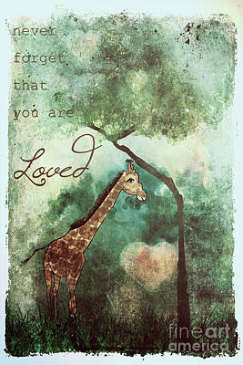 Painting - You Are Loved Giraffe Ginkelmier by Christina VanGinkel