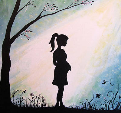 Baby Bump Painting - You Are Loved by Wendy Smith
