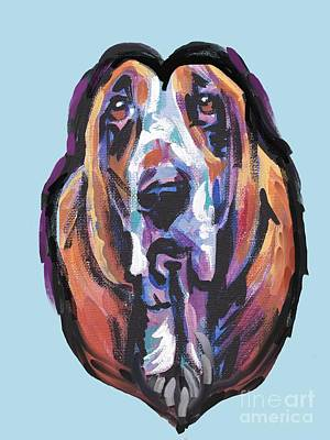 Painting - You Are My Basset Hound Heart by Lea