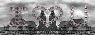 Together Digital Art - You Are My Lighthouse by Betsy Knapp