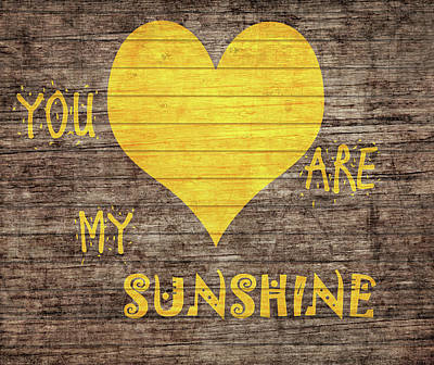 Moms Mixed Media - You Are My Sunshine Barn Door by Dan Sproul