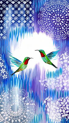 Hummingbird Painting - You Are My Sunshine by Cathy Jacobs