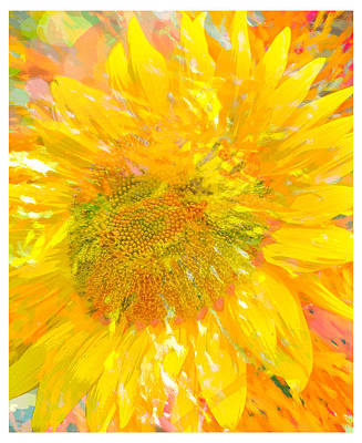 Digital Art - Sunflower Sunshine by Jill Love