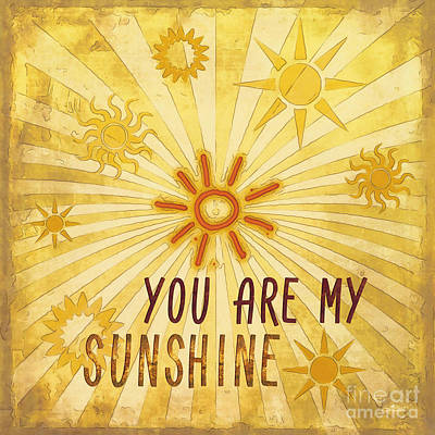 Digital Art - You Are My Sunshine by Jutta Maria Pusl