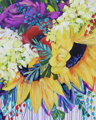 Drip Painting - You Are My Sunshine by Kristin Whitney