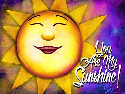 Digital Art - You Are My Sunshine by Lisa Schwaberow