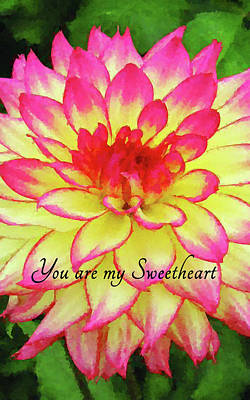 Digital Art - You Are My Sweetheart by MS  Fineart Creations