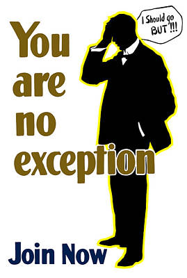 England Mixed Media - You Are No Exception - Join Now by War Is Hell Store