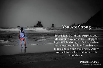 Photograph - You Are Strong by Cassius Johnson