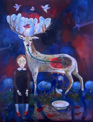 Painting - You Are The Blossom by Aurelija Kairyte-Smolianskiene