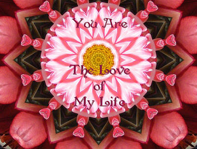 Digital Art - You Are The Love Of My Life by Lori Kingston