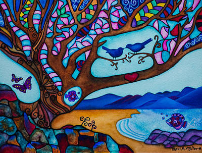 Painting - Love Is All Around Us by Lori Miller