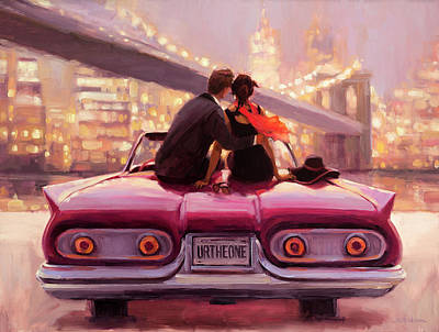 Empire State Building Painting - You Are The One by Steve Henderson